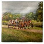 País - caballo - los placeres de la vida azulejo cerámica