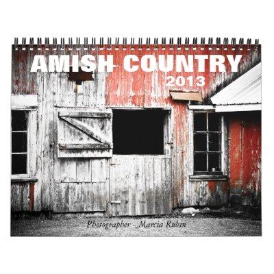 País de 2013 Amish y calendario viejo de los grane