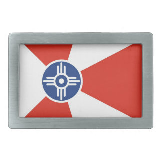 País de América del estado de Kansas de la bandera Hebilla De Cinturon Rectangular