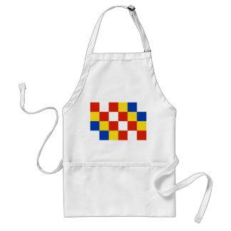 País de Bélgica de la bandera de la provincia de A Delantales