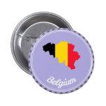 País de Bélgica Pin Redondo De 2 Pulgadas