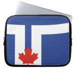país de Canadá de la bandera de la ciudad de Toron Fundas Portátiles