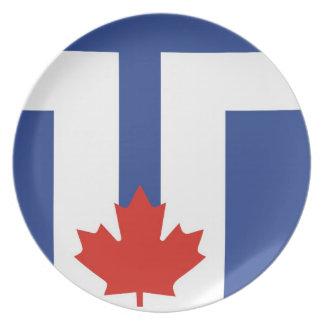 país de Canadá de la bandera de la ciudad de Toron Plato De Comida