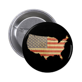 País de Estados Unidos y botón de la bandera Pin