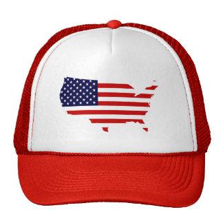 País de Estados Unidos y gorra de la bandera