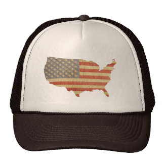 País de Estados Unidos y gorra gastado del remiend