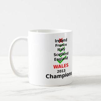 País de Gales 2013 campeones Taza De Café