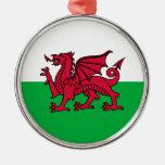 País de Gales - bandera Galés Ornamentos Para Reyes Magos
