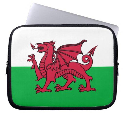País de Gales - bandera Galés Funda Computadora