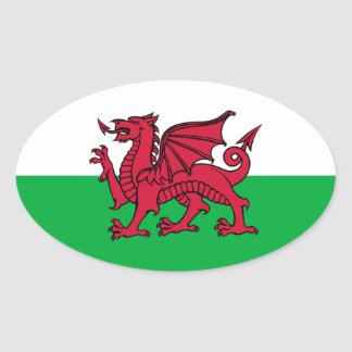 País de Gales - bandera Galés Pegatina Óval