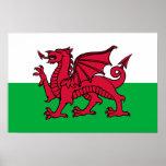País de Gales - bandera Galés Posters