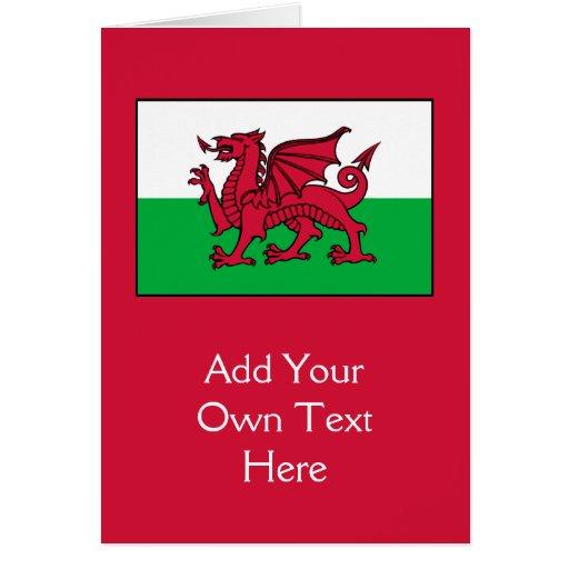 País de Gales - bandera Galés Tarjeta De Felicitación