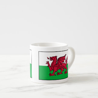 País de Gales - bandera Galés Taza Espresso