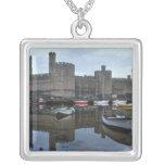 País de Gales, castillo de Caernarfon, uno de Colgante Cuadrado