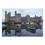 País de Gales, castillo de Caernarfon, uno de Edwa Impresión Fotográfica