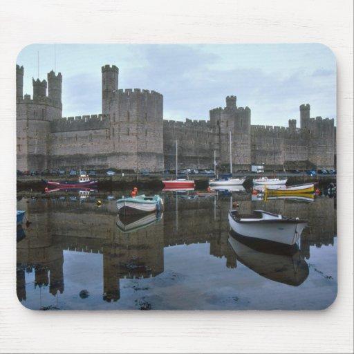 País de Gales, castillo de Caernarfon, uno de Edwa Tapete De Ratones