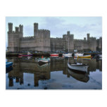 País de Gales, castillo de Caernarfon, uno de Postal