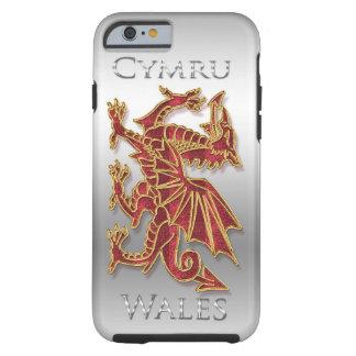 País de Gales Cymru, dragón, iPhone de plata 6 del Funda Para iPhone 6 Tough