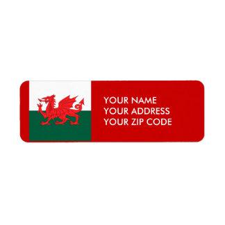 País de Gales Etiqueta De Remite