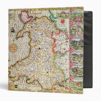 País de Gales grabado por Jodocus Hondius