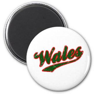 País de Gales Imán Redondo 5 Cm