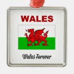 País de Gales para siempre Ornamentos Para Reyes Magos