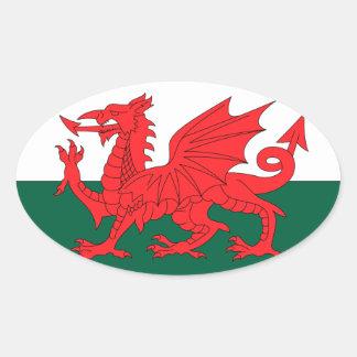 País de Gales Pegatina Ovalada