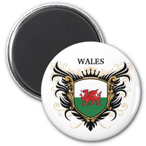 País de Gales [personalice] Imán Redondo 5 Cm