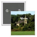 País de Gales Pin Cuadrada 5 Cm