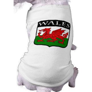 País de Gales Playera Sin Mangas Para Perro