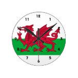 País de Gales Reloj De Pared
