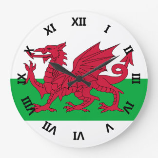 País de Gales Reloj Redondo Grande