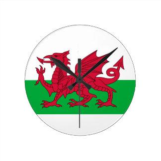 País de Gales Reloj Redondo Mediano