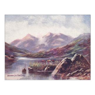 País de Gales Snowdon del capelo Cyrig Postales