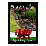País de Gales, tarjeta Galés que dice Dydd Gwyl De
