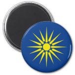 país de Grecia de la bandera de la región de Maced Imán Para Frigorifico