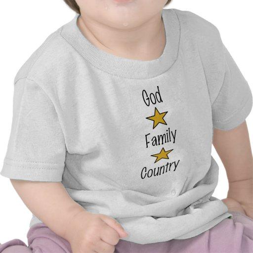 País de la familia de dios camiseta