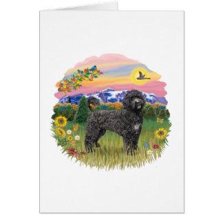 País de la montaña - Portie negro 2C Tarjeta De Felicitación