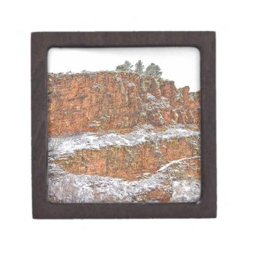 País de la piedra arenisca roja de Colorado sacado Caja De Joyas De Calidad