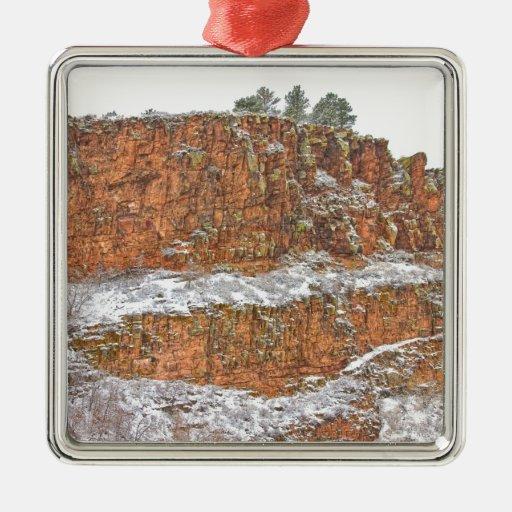 País de la piedra arenisca roja de Colorado sacado Adorno De Navidad