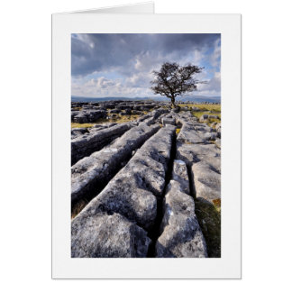 País de la piedra caliza - los valles de Yorkshire Felicitacion