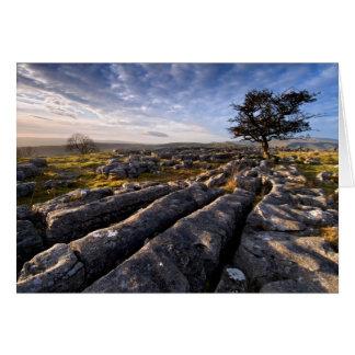 País de la piedra caliza tarjetas