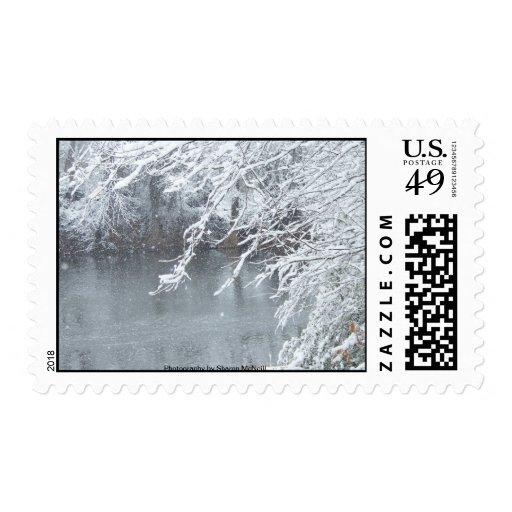 País de las maravillas 8 del invierno del franqueo sellos postales