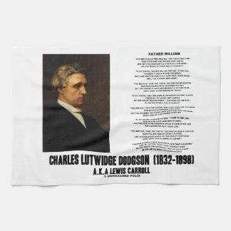 País de las maravillas Charles Lutwidge Dodgson de Toalla De Mano