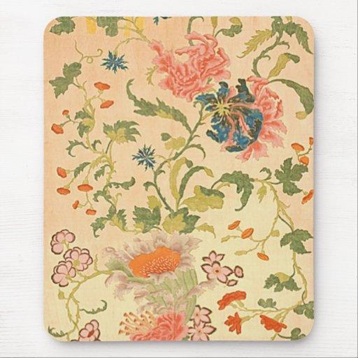 País de las maravillas colorido de las flores alfombrillas de raton