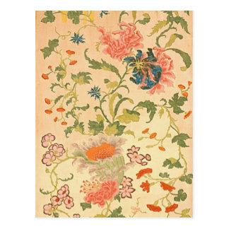 País de las maravillas colorido de las flores tarjetas postales