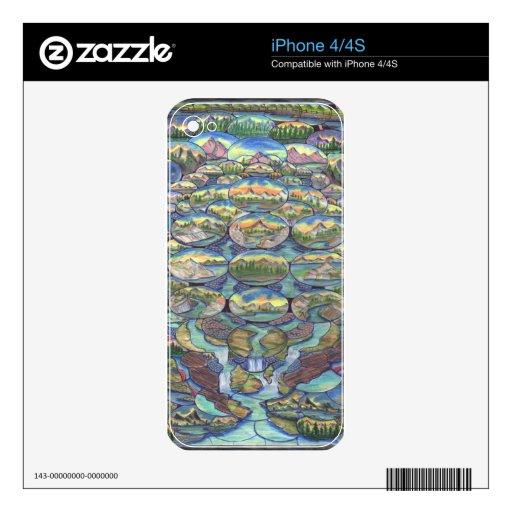 País de las maravillas de la cascada calcomanía para iPhone 4S