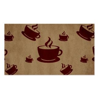 País de las maravillas de la taza de café del vint tarjetas de visita