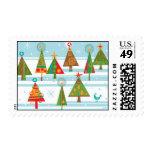 País de las maravillas de los árboles de navidad sello