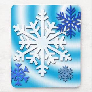 País de las maravillas del copo de nieve tapete de ratón